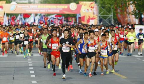 2018杨凌农科城国际马拉松赛举行