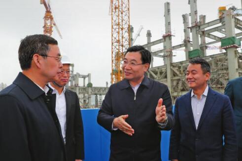 胡和平在调研西安丝路国际会议会展中心建设