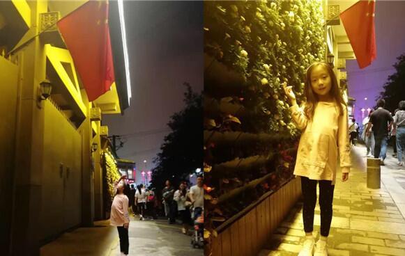 感到!西安7岁女娃看到国旗驻足敬礼